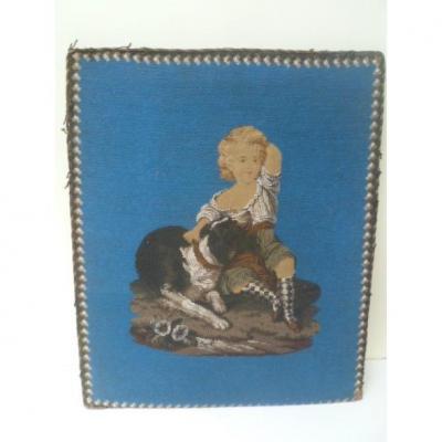 Tableau de perles L'enfant et son chien