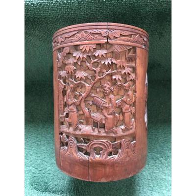 Pot à pinceaux Chine XIXe