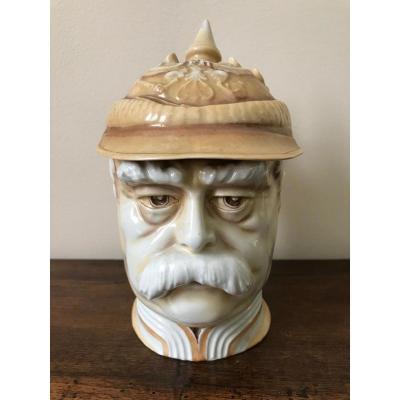 J.M.  Musterschutz - Bismarck - Chope à bière anthropomorphe