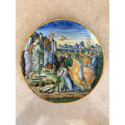 Dish In The Style Of Urbino - Moses And The Tables Of The Law