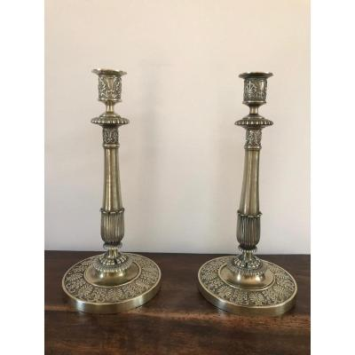 Pair Of Candlesticks Empire Period