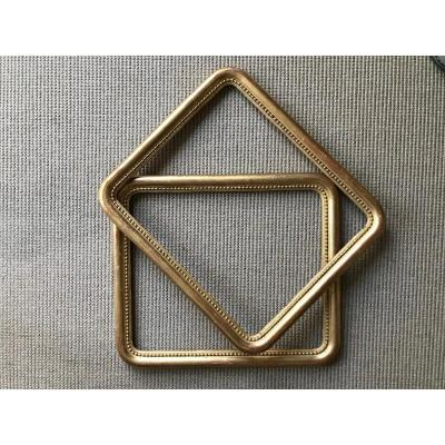 Pair Of Gilded Wood Frames Rounded Corners