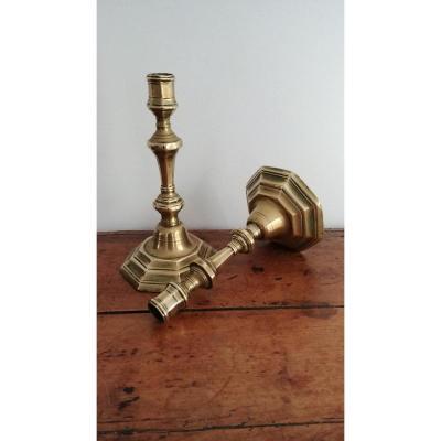 Paire De Bourgeois En Bronze
