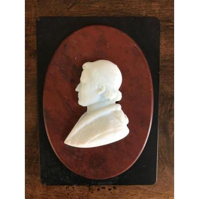 Presse-papier en marbre à l'effigie de Pie IX