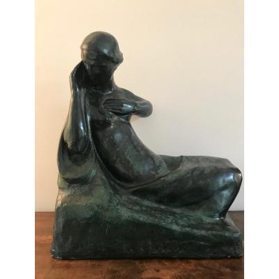 Olivier Piette (1885-1948) - Female Nude Sculpture