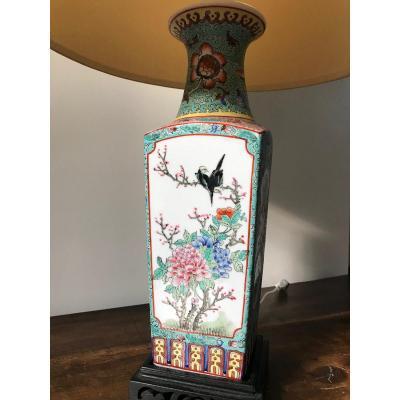 China - Porcelain Vase Mounted Lamp