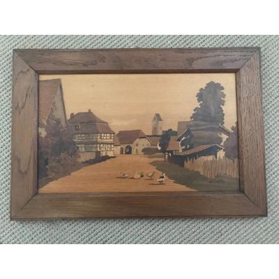 Village Alsacien Par Paul-louis Spindler