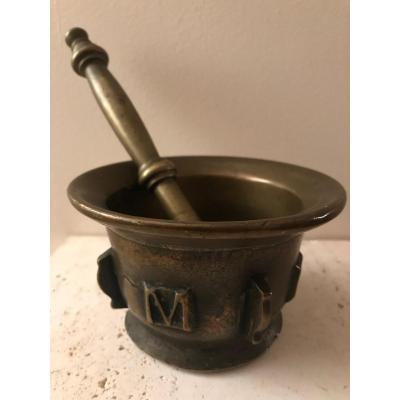 Mortier Et Pilon En Bronze XVIIe