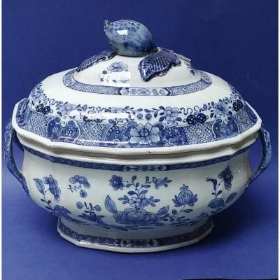 Chine XVIIIe - Soupière En Porcelaine