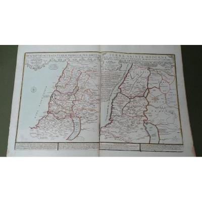 Carte De La Terre Sainte - P. De La Rue