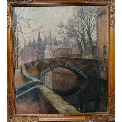 Émile Rommelaere (1873-1961) - Pont à Bruges