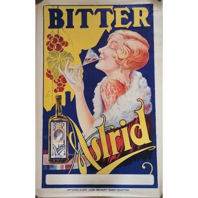 Affiche Ancienne Bitter Astrid