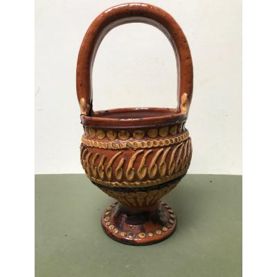 Popular Art - Basket In Glazed Earth