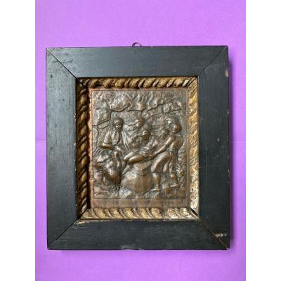 The Entombment - Repoussé Copper Plate