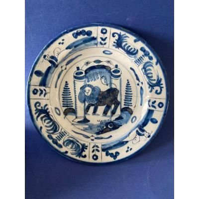 Delft Plate With Lion
