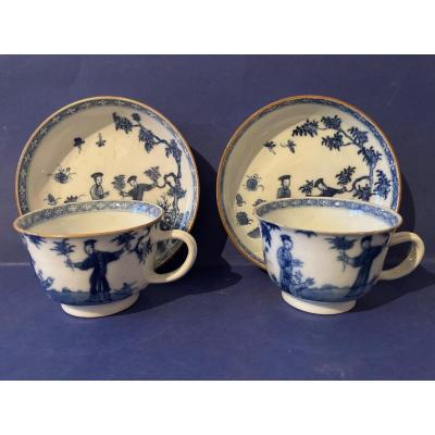 Pair Of Fine English Earthenware Cups
