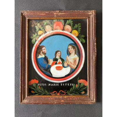 Large Fixed Under Glass - The Holy Family