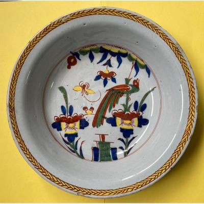 Polychrome Delft Earthenware Plate