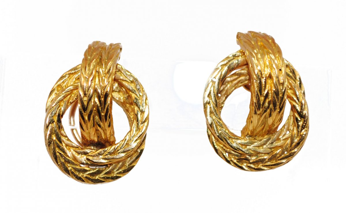 Earrings Yellow Gold Signed From Hermès House