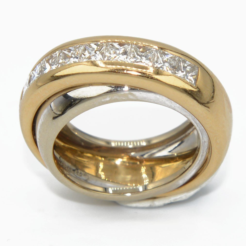 Yellow And Gray Gold Ring Signed By Maison Cartier
