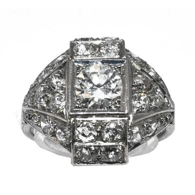 Diamond And Platinum Ring 1930