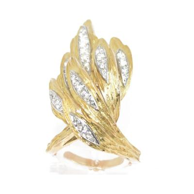 Ring Yellow Gold And Diamond 1970