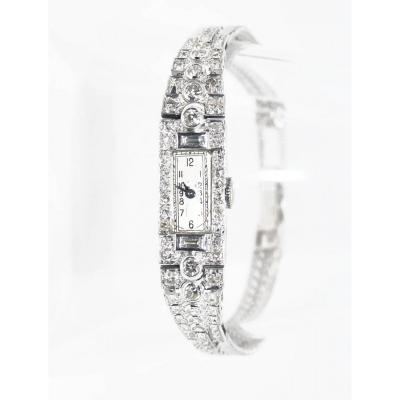 Platinum And Diamonds Art Deco Watch