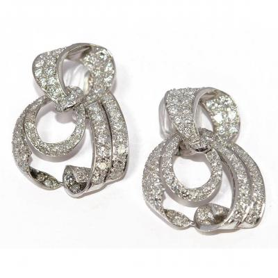 Earrings In Diamonds 1930 And Platinum