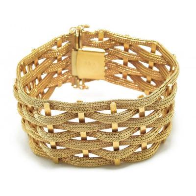 Bracelet Or Jaune Tissé 18k