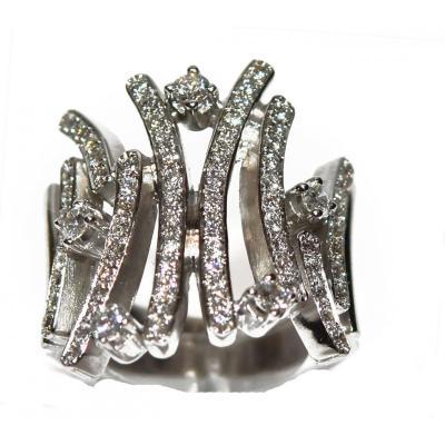 Original Diamond Ring In 18k White Gold
