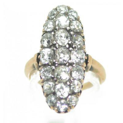 Marquise Diamond Ring Gold And Silver