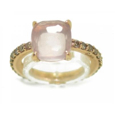 Pomellato Ring Baby Quartz Rose Model