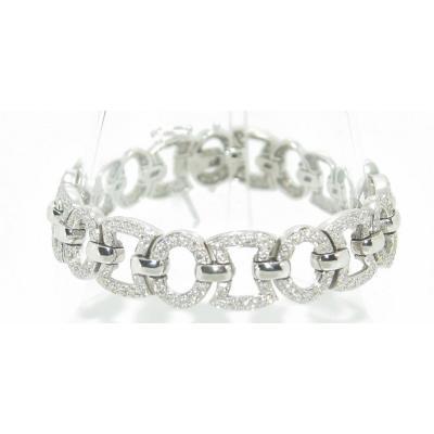 Bracelet Diamant Or Gris