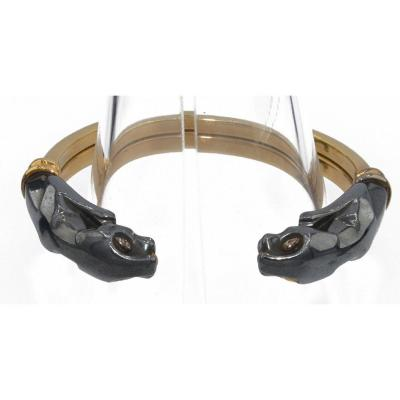 Bracelet Signée De La Maison Cartier Modèle Panthere