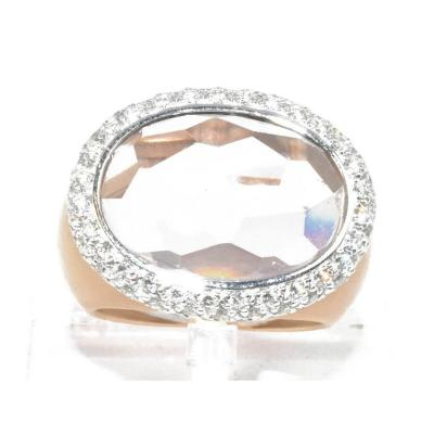 Ring Signed Pomellato Rose Gold Morganite