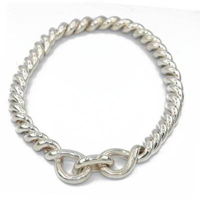 Hermès Silver Necklace Torsade Collection