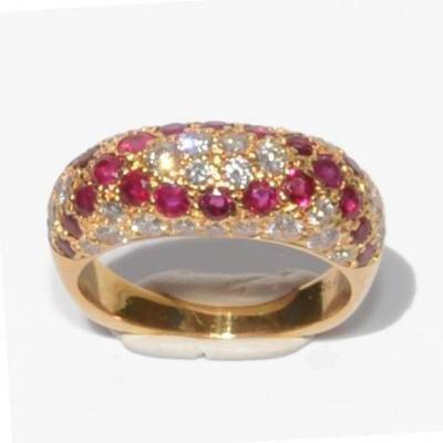 Boucheron Ruby And Diamond Yellow Gold Ring