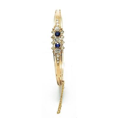 Rose Gold Sapphires And Diamonds Bracelet