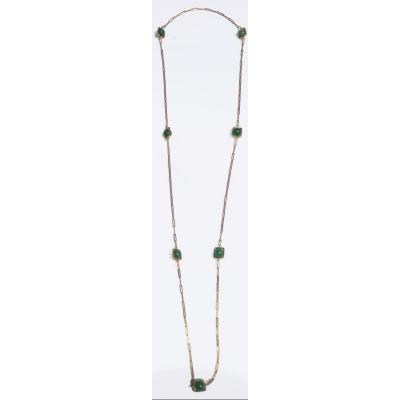 Yellow Gold Long Necklace Signed From Maison Dinh Van Collection Impression