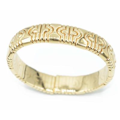 Yellow Gold Bangle Bracelet Bvlgari Parentesi Collection
