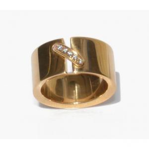 Chaumet Yellow Gold And Diamond Ring Link Model