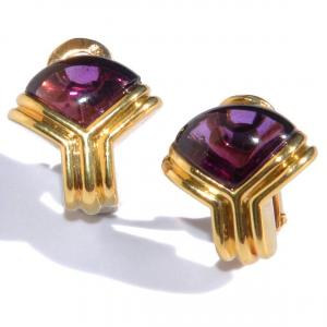 Yellow Gold Earrings From Maison Bvlgari In Amethyst