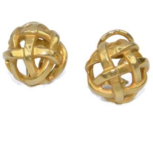 Angela Cummings For Tiffany Yellow Gold Earrings