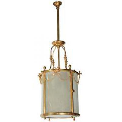 Lanterne En verre et bronze doré, N III