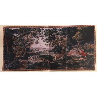 The Huntsmen Hunting Tapestry Of Lille, Eighteenth Century