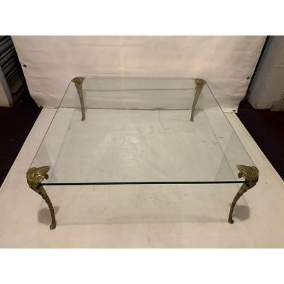 Coffee Table Bronze Glass Tray