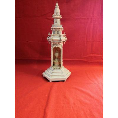 Ivory Tower Sculpture With Virgin