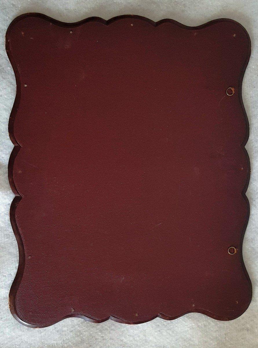 Large Leather Frame Gold Frieze-photo-2