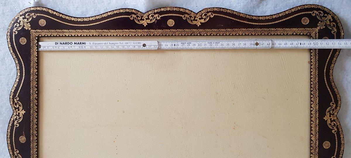 Large Leather Frame Gold Frieze-photo-6