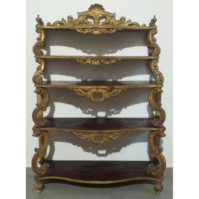 XIXs Shelf In Golden Wood